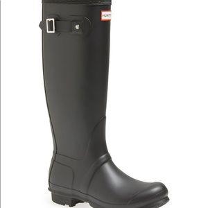 Hunter Boots | Size 8 Black Rain Boot Good Condtn.